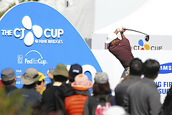 October 20, 2018 - Jeju, SOUTH KOREA - Oct 20, 2018-Jeju, South Korea-BROOKS KOEPKA of USA action on the 10th tee during the PGA Golf CJ Cup Nine Bridges Round 3 at Nine Bridges Golf Club in Jeju, South Korea. (Credit Image: © Ryu Seung-Il/ZUMA Wire)
