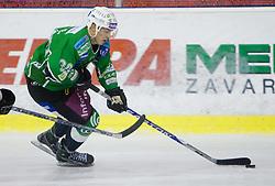 Eric Pance of Olimpija during 52nd Round of EBEL league ice-hockey match between HDD Tilia Olimpija, Ljubljana and EV Vienna Capitals, on February 7, 2010 in Arena Tivoli, Ljubljana, Slovenia. Vienna defeated Olimpija 8-2. (Photo by Vid Ponikvar / Sportida)