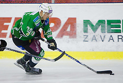 Eric Pance of Olimpija during 52nd Round of EBEL league ice-hockey match between HDD Tilia Olimpija, Ljubljana and EV Vienna Capitals, on February 7, 2010 in Arena Tivoli, Ljubljana, Slovenia. Vienna defeated Olimpija 8-2. (Photo by Vid Ponikvar / Sportida)