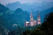 SPAIN, NORTH, ASTURIAS Covadonga Basilica, Pelayo shrine