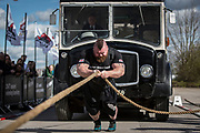 Eddie Hall aka &quot;The Beast&quot; - The Strongest Man in the World.<br /> A feature following what it takes to be Eddie Hall, who has become the first Brit to win World's Strongest Man competition in 24 years. <br /> Caption: Eddie pulls an eight and a half tonne bus as he competes in the European Strongest Man competition.<br /> Photographer: Rick Findler / Story Picture Agency