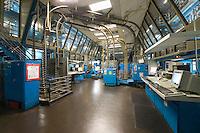 Newspaper factory interior