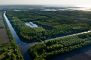 Nederland, Flevoland, Lelystad, 07-05-2018; Lage Vaart en Lage Dwarsvaart met zicht op Keersluisplas en Oostvaardersplassen, Oostelijk Flevoland.<br /> Eastern Flevoland.<br /> luchtfoto (toeslag op standard tarieven);<br /> aerial photo (additional fee required);<br /> copyright foto/photo Siebe Swart
