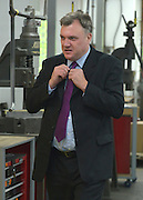 © Licensed to London News Pictures. 27/11/2012. Stevenage, UK ED BALLS. Ed Miliband MP, Leader of the Labour Party and Ed Balls MP, Labours Shadow Chancellor hold a joint question and answer session at Propak Sheet Metal LTD in Stevenage, today 27th November 2012, ahead of the Autumn Statement. Photo credit : Stephen Simpson/LNP