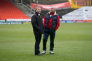 Dumbarton manager Steve Aitken  and coach Iain Durrant  - Dundee United v Dumbarton in the SPFL Championship at Tannadice, Dundee<br /> <br />  - &copy; David Young - www.davidyoungphoto.co.uk - email: davidyoungphoto@gmail.com