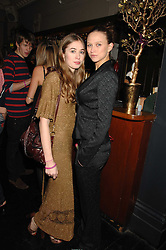 Left to right, ANOUSKA GERHAUSER daughter of Tamara Beckwith and AMY DRON at a leaving party for Poppy Delevigne who is going to New York to persue a career as an actress, held at Chloe, Cromwell Road, London on 25th January 2007.<br />