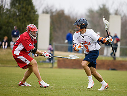 Virginia attackman Danny Glading (9).  The #17 ranked Virginia Cavaliers baseball team defeated the Lehigh Mountain Hawks 5-1 in the 2008 season opener at the University of Virginia's  Davenport Field in Charlottesville, VA on February 23, 2008.