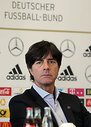 18.10.2013, DFB Zentrale, Frankfurt, GER, DFB Pressekonferenz, im Bild Trainer Joachim Jogi Löw // during the DFB press conference to extend the contract of national coach Joachim Loew in the DFB headquarters in Frankfurt on 2013/10/18. EXPA Pictures © 2013, PhotoCredit: EXPA/ Eibner-Pressefoto/ RRZ<br /> <br /> *****ATTENTION - OUT of GER*****