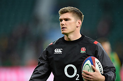 Owen Farrell of England looks on during the pre-match warm-up - Mandatory byline: Patrick Khachfe/JMP - 07966 386802 - 18/11/2017 - RUGBY UNION - Twickenham Stadium - London, England - England v Australia - Old Mutual Wealth Series International