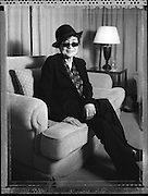 Yoko Ono  photographed  during exclusive interview in Tokyo 12/05/08