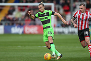 Forest Green Rovers Joseph Mills(23) runs forward during the EFL Sky Bet League 2 match between Lincoln City and Forest Green Rovers at Sincil Bank, Lincoln, United Kingdom on 3 November 2018.