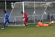 Greenwich Borough's Mohamed Eisa scores (5-0)during the Southern Counties East match between AFC Croydon Athletic and Greenwich Borough at the Mayfield Stadium, Croydon, United Kingdom on 12 March 2016. Photo by Martin Cole.