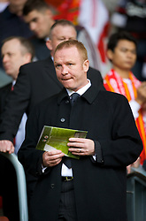LIVERPOOL, ENGLAND - Saturday, March 15, 2008: Birmingham City manager Alex McLeish watches Liverpool take on Reading during the Premiership match at Anfield. (Photo by David Rawcliffe/Propaganda)