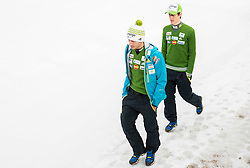 Robert Kranjec and Peter Prevc of Slovenian Ski jumping team, on December 23, 2014 in Planica, Slovenia. Photo by Vid Ponikvar / Sportida