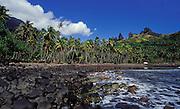 Felsen am Strand von Nuka Hiva, Französisch Polynesien * Rocks at beach of Nuka Hiva, French Polynesia