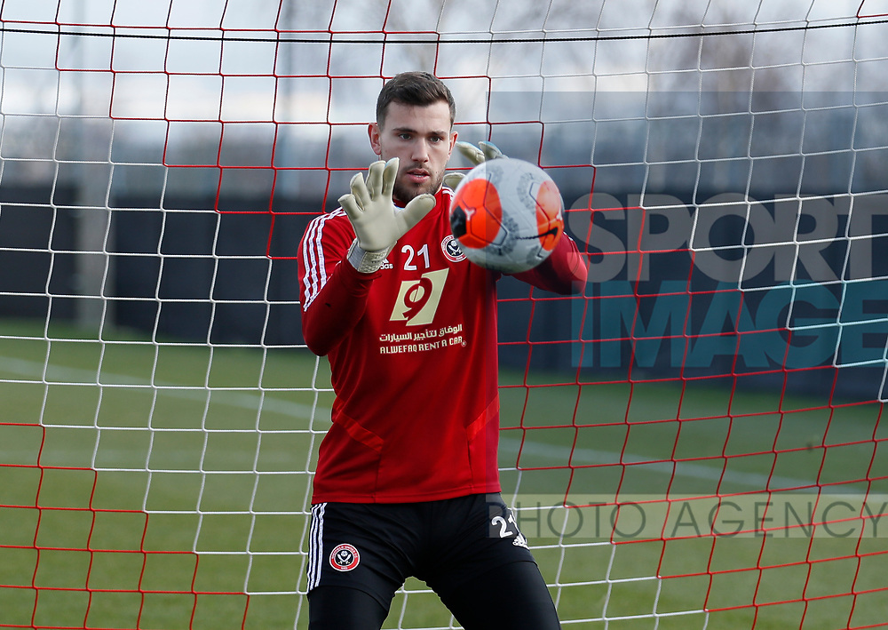 Michael Verrips of Sheffield Utd during a training session at the Steelphalt Academy, Sheffield. Picture date: 5th March 2020. Picture credit should read: Simon Bellis/Sportimage