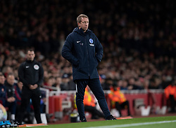 LONDON, ENGLAND - Thursday, December 5, 2019: Brighton & Hove Albion's manager Graham Potter during the FA Premier League match between Arsenal FC and Brighton & Hove Albion FC at the Emirates Stadium. (Pic by Vegard Grott/Propaganda)