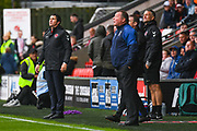 Joey Barton of Fleetwood Town (Manager) watches on during the EFL Sky Bet League 1 match between Fleetwood Town and AFC Wimbledon at the Highbury Stadium, Fleetwood, England on 10 August 2019.