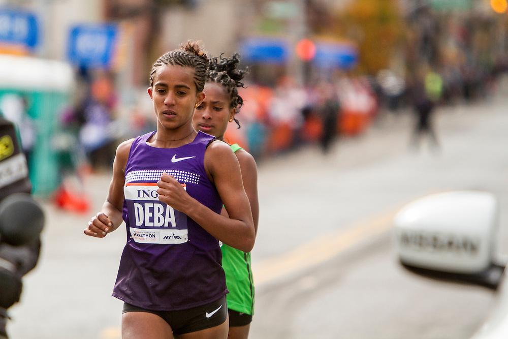 ING New York City Marathon: elite women leaders Buzunesh Deba, Tigist Tufa, Ethiopia