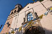 The Parroquia de San Diego de Alcalá church in Quiroga, Michoacan, Mexico.