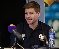 LIVERPOOL, ENGLAND - Thursday, March 12, 2015: Liverpool's captain Steven Gerrard announces plans for an All-Star Charity friendly match to be played at Anfield on Sunday March 29th in aid of the Liverpool FC Foundation. (Pic by Paul Currie/Propaganda)