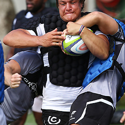 DURBAN, SOUTH AFRICA, 25 January 2016 -Coenie Oosthuizen during The Cell C Sharks Pre Season training for the 2016 Super Rugby Season at Growthpoint Kings Park in Durban, South Africa. (Photo by Steve Haag)<br /> images for social media must have consent from Steve Haag