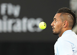 SYDNEY, Jan. 8, 2018  Nick Kyrgios competes during the FAST4 of Sydney International match between Nick Kyrgios/Lleyton Hewitt of Australia and Grigor Dimitrov of Bulgaria/Alexander Zverev of Germany in Sydney, Australia, on Jan. 8, 2018. Nick Kyrgios/Lleyton Hewitt won 2-1. (Credit Image: © Bai Xuefei/Xinhua via ZUMA Wire)