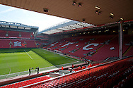 A general view of the Kop stand before the Barclays Premier League match at Anfield, Liverpool<br /> Picture by Russell Hart/Focus Images Ltd 07791 688 420<br /> 22/03/2015