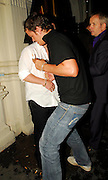 07.AUGUST.2007. LONDON<br /> <br /> WORLD BOXING CHAMPION RICKY HATTON LEAVING MAHIKI NIGHT CLUB AT 2.30AM LOOKING VERY DRUNK AND AS HE LEFT SOMEONE WENT TO PUNCH HIM ON THE CHIN, HE THEN GOT ONTO A RICKSHAW BEFORE GETTING OFF AND GETTING INTO A CAB.<br /> <br /> BYLINE: EDBIMAGEARCHIVE.CO.UK<br /> <br /> *THIS IMAGE IS STRICTLY FOR UK NEWSPAPERS AND MAGAZINES ONLY*<br /> *FOR WORLD WIDE SALES AND WEB USE PLEASE CONTACT EDBIMAGEARCHIVE - 0208 954 5968*