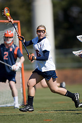 Virginia Cavaliers M Ashley McCulloch (16).  The #2 ranked Virginia Cavaliers women's lacrosse team defeated the #4 ranked Syracuse Orange 13-8 at the University of Virginia's Klockner Stadium in Charlottesville, VA on March 1, 2008.
