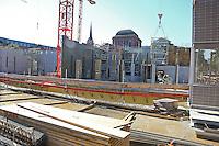 Mannheim. 30.09.15 Innenstadt. Neubau der Kunsthalle. Rohbau der neuen Kunsthalle.<br /> Bild: Markus Proßwitz 30SEP15 / masterpress (Bild ist honorarpflichtig)