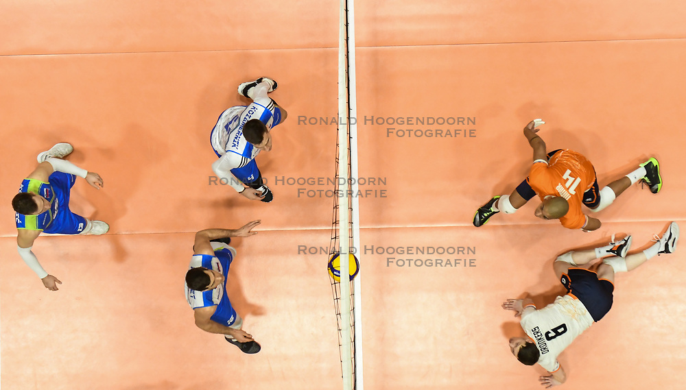 02-01-2020 SLO: Slovenia - Netherlands, Maribor<br /> Nimir Abdelaziz #14 of Netherlands, Just Dronkers #6 of Netherlands during Friendly volleyball match between National Men teams of Slovenia and Netherlands