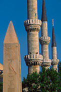 TURKEY, ISTANBUL Hippodrome; obelisk and minarets