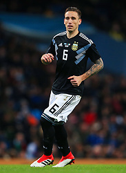 Lucas Biglia of Argentina - Mandatory by-line: Matt McNulty/JMP - 23/03/2018 - FOOTBALL - Etihad Stadium - Manchester, England - Argentina v Italy - International Friendly