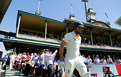 Australia's Shaun Marsh walks out to bat during day four of the Ashes Test match at Sydney Cricket Ground.