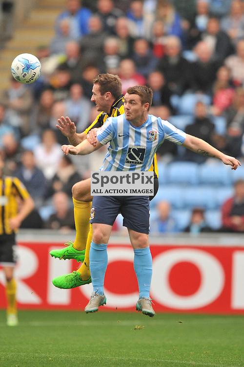 Coventrys John Fleck holds of Shrewsburys Attack, Coventry City v Shreswsbury Ricoh Arena, Football League One, Saturday 3rd October 2015