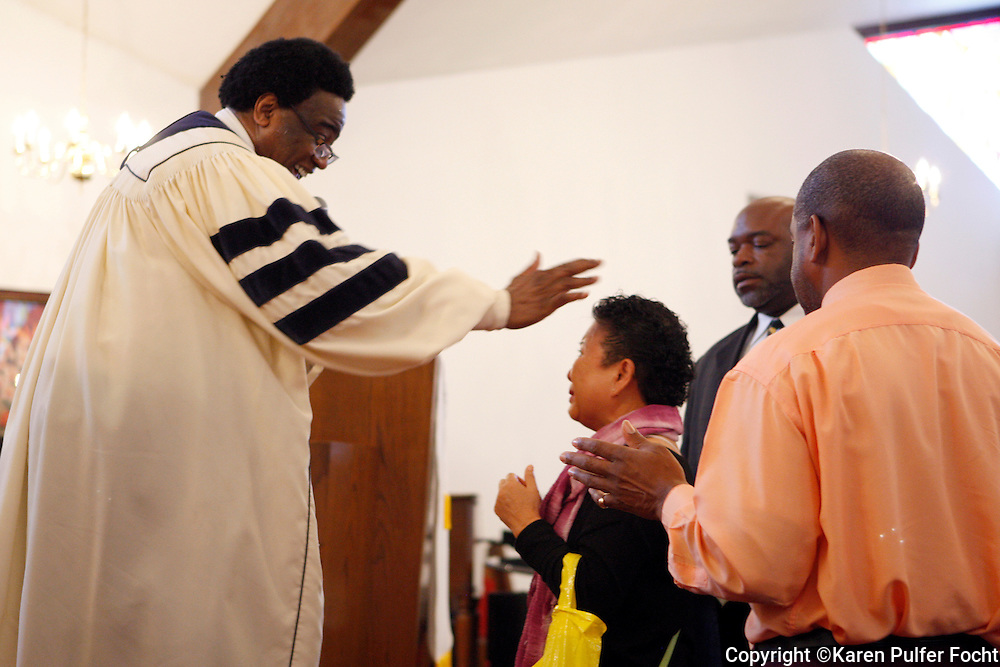 The Rev. Al Green blesses guests at his Full Gospel Tabernacle church on a recent Sunday morning. Legendary soul singer Al Green is about to receive a major national honor. Green is among the five artists who will receive this year's Kennedy Center honors. The national award is for influencing American culture through the arts. His church is located at 787 Hale Rd. in Memphis, TN.
