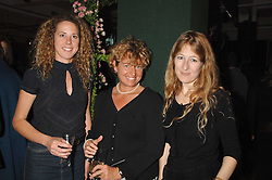 Left to right, sisters CHARITY CREWE, SABRINA CREWE and CANDIDA CREWE daughters of the late Quentin Crewe at a party to celebrate the 60th anniversary of House & Garden magazine held at Bonhams, 101 New Bond Street, London on 4th October 2007.<br /><br />NON EXCLUSIVE - WORLD RIGHTS