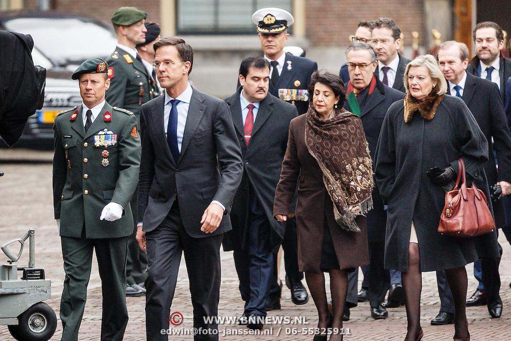 NLD/Den Haag/20160315 - Uitreiking Militaire Willemsorde aan Korps Commando Troepen, minister president Mark Rutte