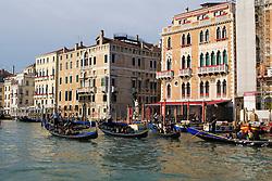 Gondolas in the Grand Canal, Venice, Italy / Italia December 5, 2007.