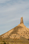View of Chimney Rock, near Bayard, Nebraska; Chimney Rock National Historic Site.
