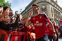 Osasuna's player David Garcia during the celebration for promotion to La Liga BBVA on the streets of Pamplona . 19,06,2016. (ALTERPHOTOS/Rodrigo Jimenez)
