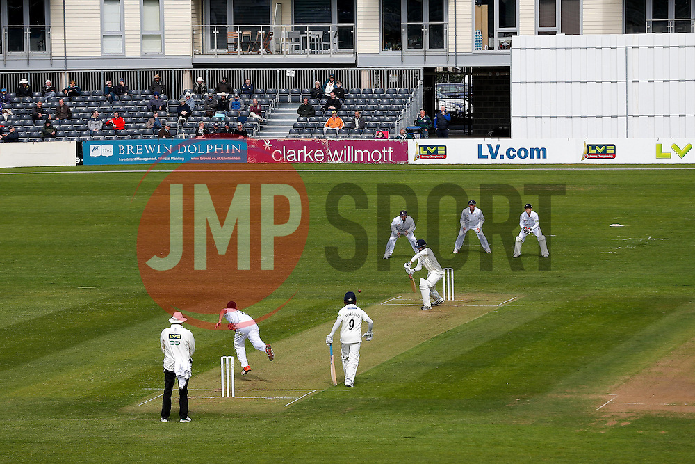 General View as Hamish Marshall of Gloucestershire bats - Photo mandatory by-line: Rogan Thomson/JMP - 07966 386802 - 26/04/2015 - SPORT - CRICKET - Bristol, England - Bristol County Ground - Gloucestershire v Derbyshire — Day 1 - LV= County Championship Division Two.