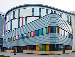 Exterior view of the new Royal Hospital for Children in Glasgow, Scotland ,UK