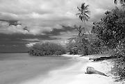 Secluded beach scene