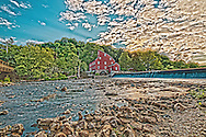 High Dynamic Range image of the Historic Red Mill in Clinton NJ