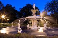 Forsyth Park Fountain in Savannah, Georgia.