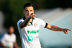 Alen Krajnc of NK Aluminij celebrates goal during football match between NK Triglav Kranj and NK Aluminij in 2nd Round of Prva liga Telekom Slovenije 2018/19, on July 28, 2018 in Sports park Kranj, Kranj, Slovenia. Photo by Urban Urbanc / Sportida