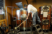 Dave Johnson, head brewer at Buffalo Brewing, brews a batch of Oricle IPA.