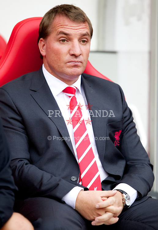 SUNDERLAND, ENGLAND - Saturday, September 15, 2012: Liverpool's manager Brendan Rodgers before the Premiership match against Sunderland at the Stadium of Light. (Pic by Vegard Grott/Propaganda)